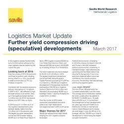 Verdere yield compressie stimuleert (speculatieve) logistieke ontwikkelingen