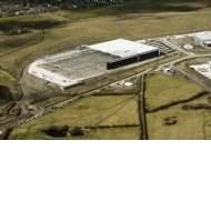 Steel framework in place at North West's largest industrial spec dev