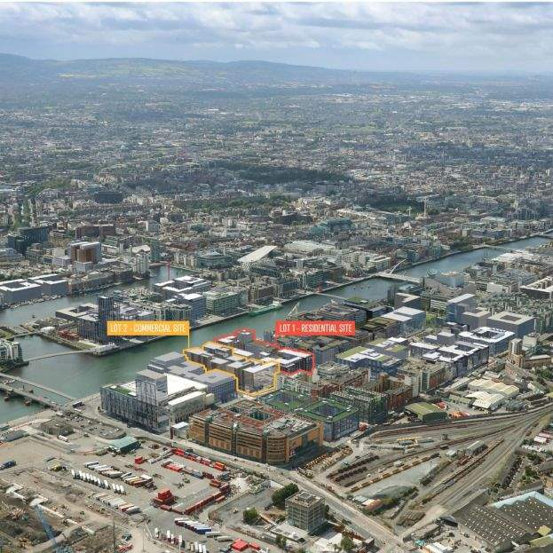 Last remaining waterfront development site in North Docklands for sale for €120m