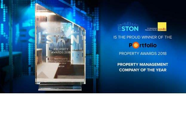 Savills associate ESTON wins prestigious property management award