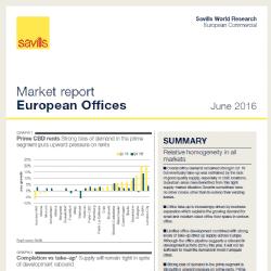 Na europejskim rynku powierzchni biurowych popyt przewyższa podaż