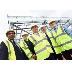 Steel Framework of Guhring's new UK HQ in place at the Advanced Manufacturing Hub, Birmingham