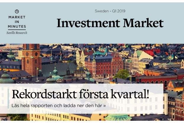 Rekordhöga transaktionsvolymer på den svenska fastighetsmarknaden