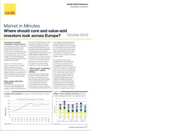 Savills: Where are the next core and value-add opportunities for real estate investors in Europe?