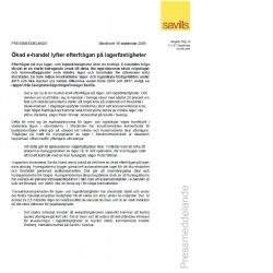 Pressrelease - Ökad e-handel lyfter efterfrågan på lagerfastigheter