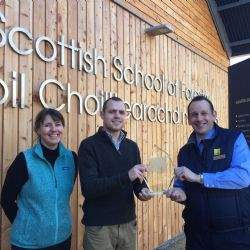 Student fascinated with Scotland's natural environment awarded top prize