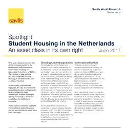 Savills believes the Dutch student housing market passed the exam and has become an asset class in its own right