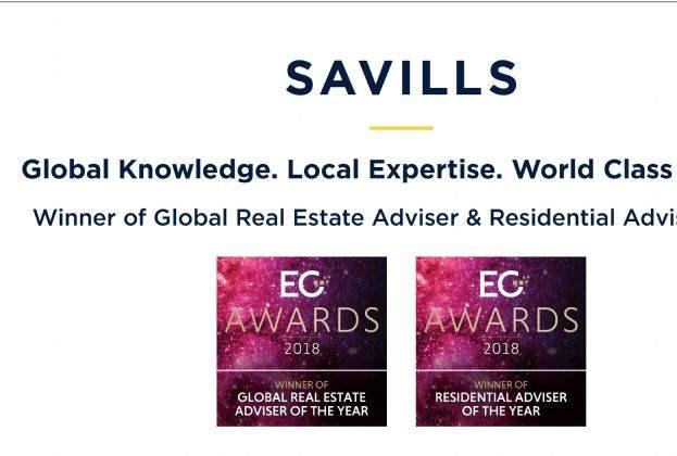 Savills gana los premios Mejor Asesor Global y Mejor Asesor Residencial en los Estates Gazette Awards 2018